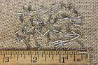 """3/8"""" Nickel BRASS BRADS 100 NAILS small head 18 gaugeEscutcheonpins USA made"""