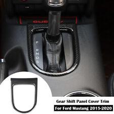 Carbon Fiber Central Gear Shift Frame Trim Cover Decor for Ford Mustang 2015-20