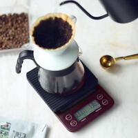 5kg/0.5g LCD Digital Coffee Weighing Scale Home Kitchen Bar Timer Balance Scale