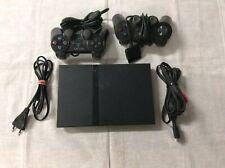 Sony PlayStation 2 Slimline  + 10 Spiele + Playstation2 Lenkrad mit Gas