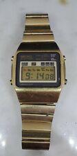 1970s SEIKO Quartz LC Chronograph Japan A128-5000 Gold Tone -Works New Battery
