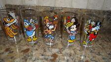 Disney 1978 Pepsi Glass set- Pluto, Donald, Scrooge, Horace Minnie, Mickey