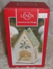 "Lenox ""Winter Greetings"" Birdhouse Votive-Brand New In Box-"