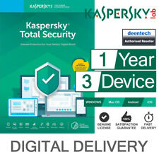 Kaspersky Total Security 2019 (3PCs) Antivirus Multi-Device Genuine License