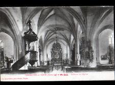 VENDEUVRE-sur-BARSE (10) Intérieur de l'EGLISE en 1922