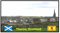 THURSO, SCOTLAND  - SOUVENIR NOVELTY FRIDGE MAGNET - SIGHTS / FLAG / GIFTS