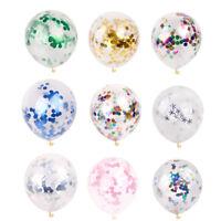 10pcs 5pcs Round Gold Foil Confetti Latex Balloon Wedding Party Birthday Decor C