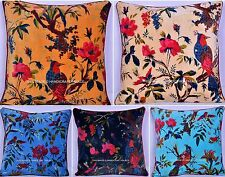 Wholesale Lot Of 50 PC Indian Velvet Bird Print Cushion Cover Pillow Cover Decor