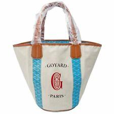 Goyard Sac Belharra MM Tote Bag Turquoise blue Reversible Auth New 2019 L/d Rare