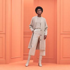 Hermes 2020 Ladies H Voyage Wool Oversize Knit Sweater Cardigan Coat Dress 34