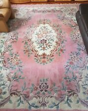 Teppich  400x 300 ROSEN Muster Schurwolle getuftet