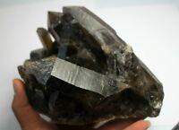 1769g AA++ Rare Beautiful Black QUARTZ Crystal Cluster Tibetan Specimen