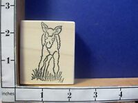 Female Moose and Baby Silhouette Rubber Stamp  J20606 WM