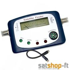 Digital TV Satfinder mit Kompass / Ton Messgerät Sat Finder HD + F-Kabel Camping