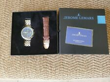 Jerome Lemars  Chronograph Watch 45mm Sapphire Crystal with extra leather band