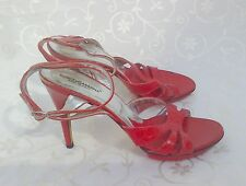 DOLCE & GABBANA Red Leather Strappy Sandals .. EU 40.5 .. UK 7.5
