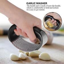 Stainless Steel Manual Garlic Press Crushers Squeezer Masher Home Kitchen Tool
