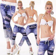 ITALY Jogging harems pantalon jeans détérioré Look One size 34 - 38