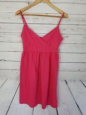 Old Navy Women's Dress Size M Pink Spaghetti Strap V-neck Cotton (G)