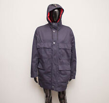 MARNI x H&M Trench Coat Men's Blue Field Hooded Parka Jacket 54 US 44R Large