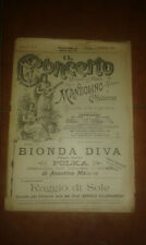 A. MAIANO BIONDA DIVA POLKA SPARTITO PER MANDOLINO CHITARRA IL CONCERTO 3 1901