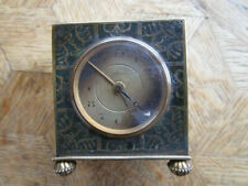 Vintage Gold plated ZENITH 8 Days Tavel Alarm Clock / Pendulette. Ref. 510.