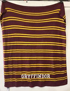 Harry Potter Gryffindor Pottery Barn Teen PB Blanket 50x60 Knit Throw Maroon