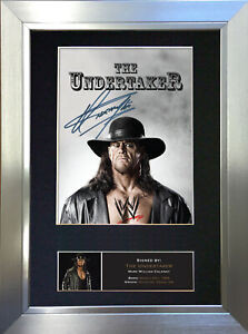 THE UNDERTAKER WWE Signed Autograph Mounted Photo Repro A4 Print 481