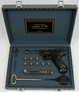 PISTOL GUN PRESENTATION CUSTOM DISPLAY CASE BOX for DWM LUGER P08 PARABELLUM 9mm