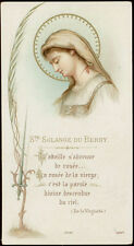 antico santino cromo-holy card S.SOLANGE DEL BERRY