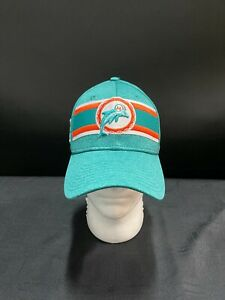 MIAMI DOLPHINS THROWBACK LOGO AQUA ELASTIC FITTED HAT ** THANKSGIVING SPECIAL**