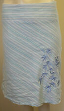 Jane Norman pretty blue & white stripped skirt size 10  lined pleated  Worn once