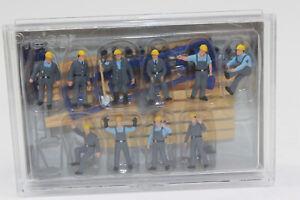 Preiser 10220 Figuren  THW-Helfer  Arbeitsanzug  H0 1:87  Neu  in OVP