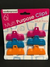 6 Pack Multi-Purpose Colored Kitchen Food Bag Snack Chip Clips US Shipping