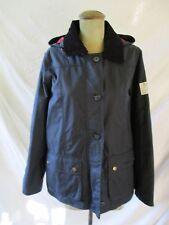 BARBOUR South Shields black coated cotton hood storm flap rain jacket 8