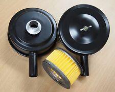 "Lot of (2) Air Compressor Metal 4"" Air Filter Silencer 1/2"" MPT Paper Cartridge"