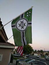 Peoples Republic of Kekistan Pepe the Frog 3'x5' Flag 4chan pol Praise Kek Trump