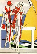 AUTHENTIC VINTAGE ART DECO FASHION PRINT MARTIAL et ARMAND Art, goutte, BEAUTE