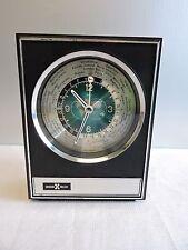 Howard Miller Atomic Space Age Executive Desk World Clock Rocket Second Hand