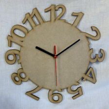 CL5 30cm Round Wooden Number Clock Kit . Ideal For Craft, Deco Patch