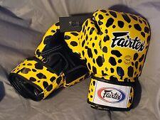 Fairtex Bgv1 Leopard Spot Mma Martial Arts Muay Thai Boxing Gloves size 16
