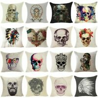 Skull Sofa Cushion Cover Throw Pillow Case Cotton Linen Pillow Cover Home Decor