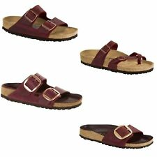 Birkenstock Arizona Mayari Madrid Zinfandel Maroon Red Big Buckle Sandals NEW