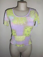 ORIGINAL T-SHIRT FEMME MORGAN DE TOI MOULANT CEINTRE MOTIF MULTICOLOR FLASHY T:M