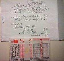 SCHEDINE TOTOCALCIO-CAMPIONATO COMPLETO DA 1 A 63 + COPPA DEL MONDO ANNO 1985/86