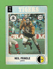 1977 SCANLENS RUGBY LEAGUE CARD   #103 NEIL PRINGLE, BALMAIN TIGERS