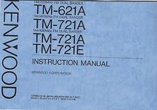 New Kenwood Tm-621A/Tm-721A/Tm-721E Instruction Manual Book in English