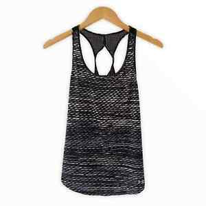Under Armour Women's Heat Gear Fly By Printed Tank Top Women's Size Medium Black