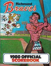 1980 Richmond Braves vs Syracuse Chiefs scored program w/ insert & ticket stubs