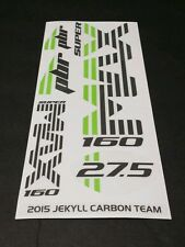 Super Max Sticker Decal Set for Cannondale Lefty PBR JEKYLL CARBON TEAM